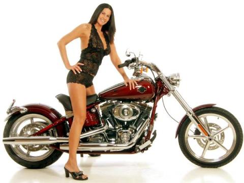Фото с красивыми девушками на мотоциклах!